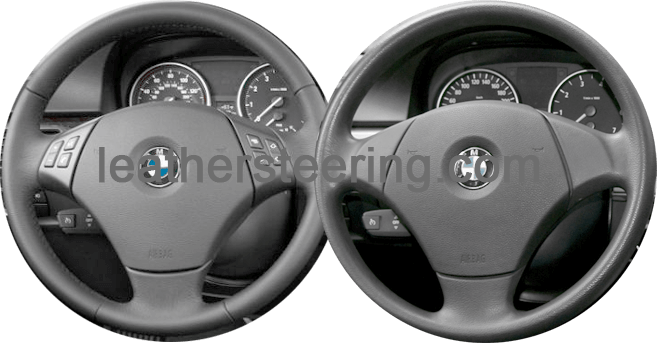 Leather steering wheel cover for BMW E90/E91 318d 320d 316i 320i
