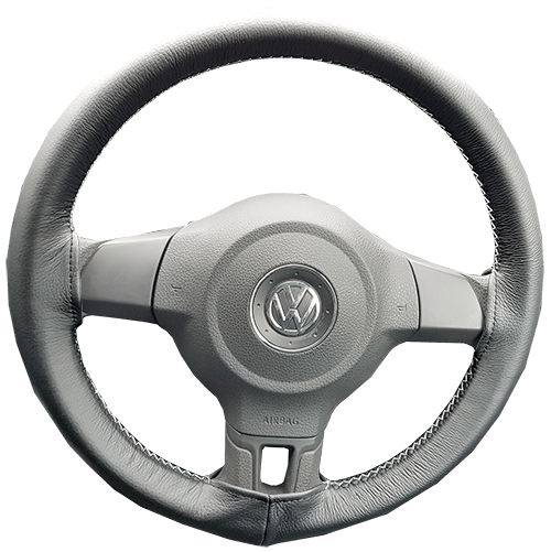Leather steering wheel cover for theVolkswagen Golf MK6/A6 (2008–2012)