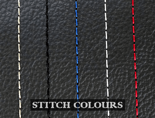 Personalise your steering wheel cover with custom stitch colour