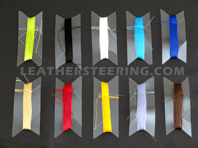Car steering wheel lacing cords/ threads colours