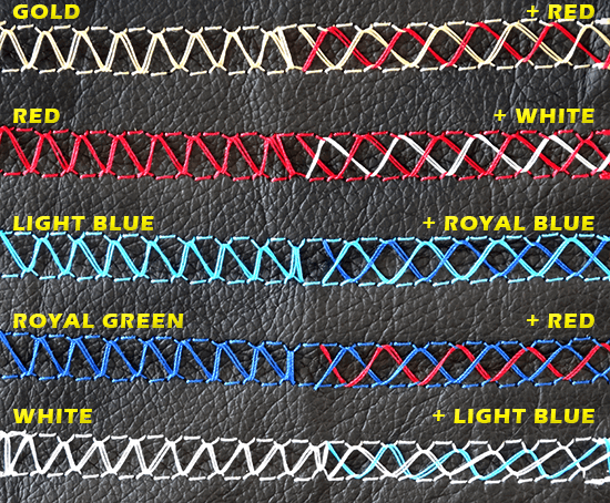 Steering Wheel Stitch Colours combinations