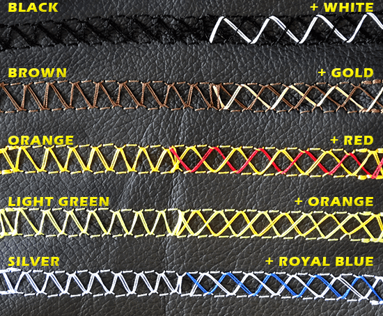 Leather Steering Stitch Colours
